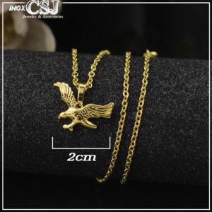 Dây chuyền chim đại bàng mạ vàng, vòng cổ inox hình con chim đại bàng mạ vàng sang trọng