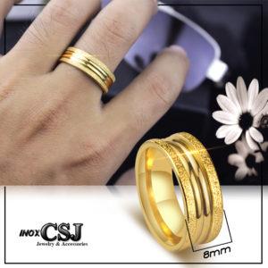 nhẫn nam inox mạ vàng, nhẫn nam thời trang HQ inox cao cấp xi vàng đẹp giá rẻ HCM