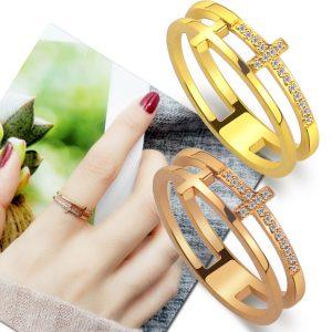 Nhẫn titan thanh giá thời trang Hàn Quốc
