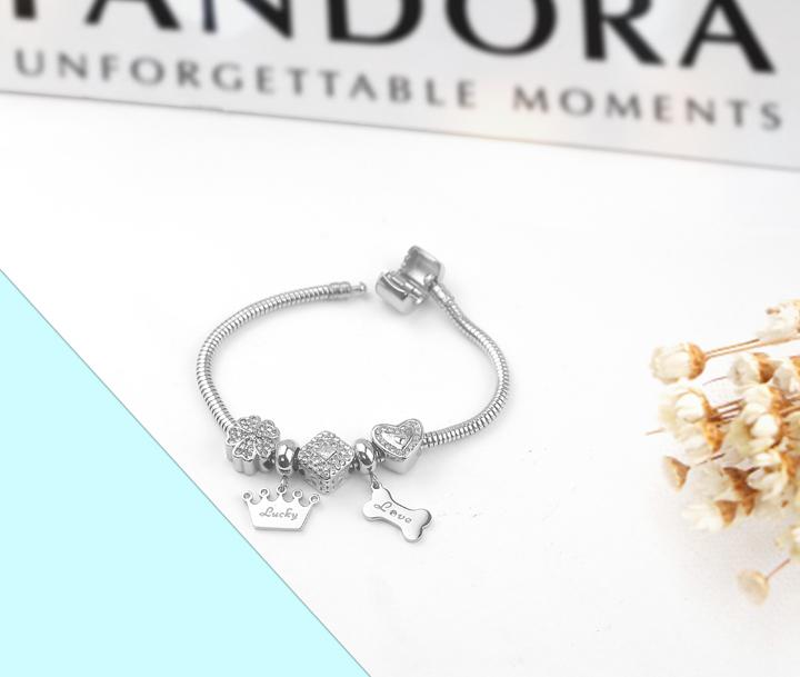 Lắc vòng tay titan phong cách Pandora TA317