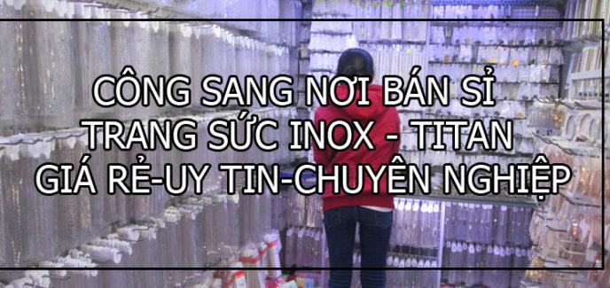 bán sỉ trang sức inox đẹp giá rẻ uy tín, bỏ sỉ phụ kiện nữ trang inox,