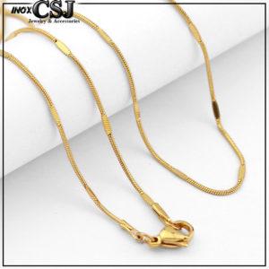 dây chuyền nữ inox mạ vàng kiểu mì đẹp giá rẻ