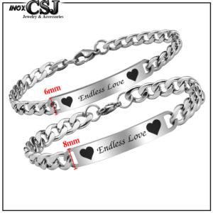 CSJ chuyên bán lắc tay cặp inox endless love, vòng tay cặp đôi inox endless love đẹp ý nghĩa giá rẻ