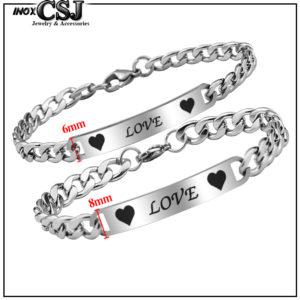 trang sức cặp đôi CSJ chuyên bán lắc tay, vòng tay cặp đôi inox chữ love đẹp giá rẻ đầy ý nghĩa