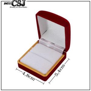 CSJ chuyên bán sỉ, bỏ sỉ hộp nhung đỏ đựng nhẫn hình vuông, hôp nhẫn bằng nhung đỏ,