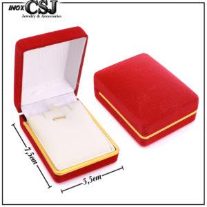 hôp quà nhung đỏ hình chữ nhật đựng dây chuyền , bông tai ...giá sỉ tai CSJ, Nơi bán sỉ hộp quà bằng nhung đỏ,