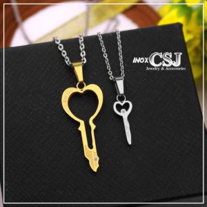 Vòng cổ đôi, dây chuyền cặp hình chìa khóa đẹp không đen giá rẻ nhất , món quà cặp đôi ý nghĩa
