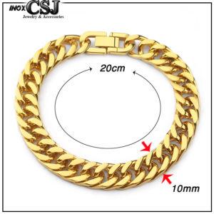 Lắc tay nam inox kiểu lặc đôi 10ly, nơi bán vòng tay lặc đôi mạ vàng 10ly inox cao cấp