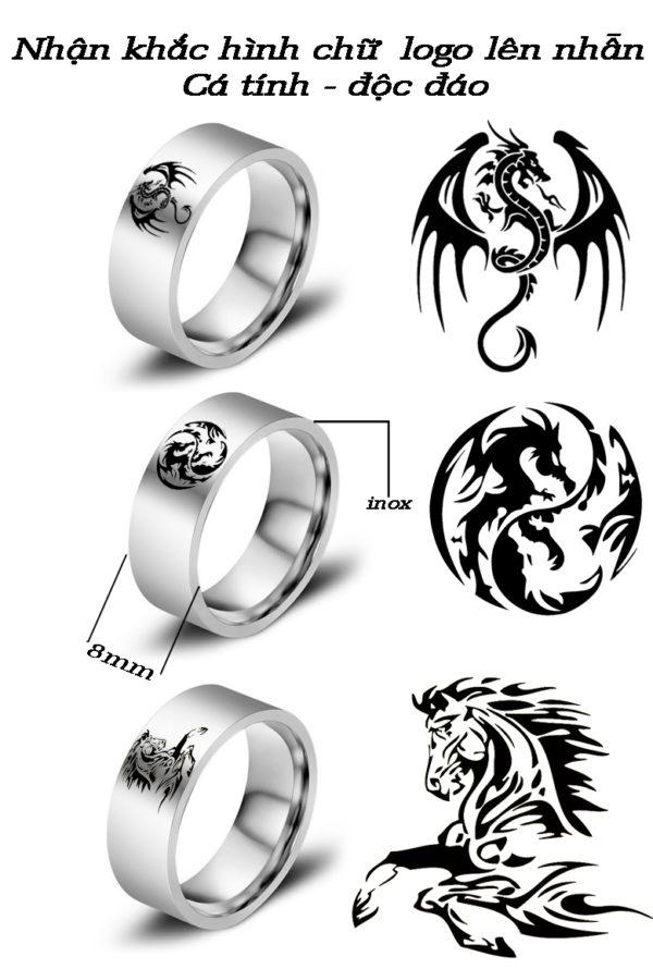 CSJ nhận khắc hình họa tiết chữ lên nhẫn đẹp giá rẻ