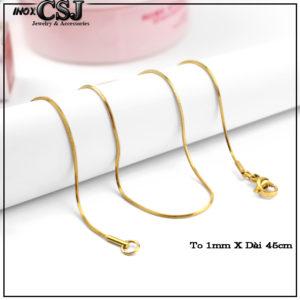 Dây chuyền kiểu mì, vòng cổ nữ inox thiết kế nhỏ mạ vàng , dây chuyền inox xi vàng
