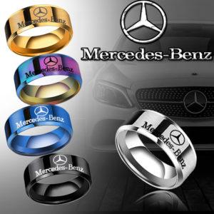 Nhẫn inbox bảng 8mm trơn khắc Mercedes-Benz