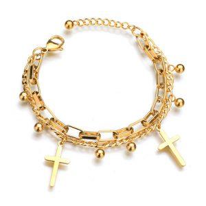 Lắc tay thánh giá mạ vàng, lắc tay phong cách hiphop hàn quốc