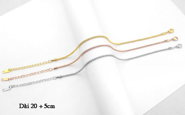 TA651c-Lắc chân titan kiểu dây xoắn