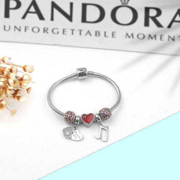 Lắc vòng tay titan phong cách Pandora TA316