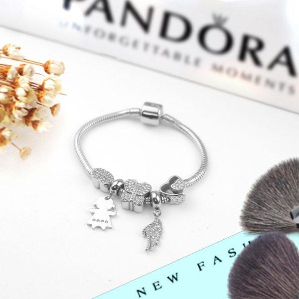 Lắc vòng tay titan phong cách Pandora TA318