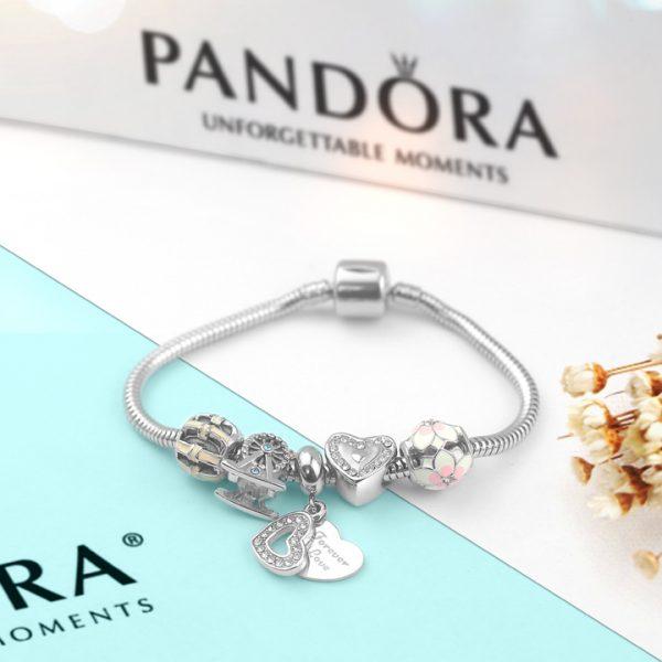 Lắc vòng tay titan phong cách Pandora TA319