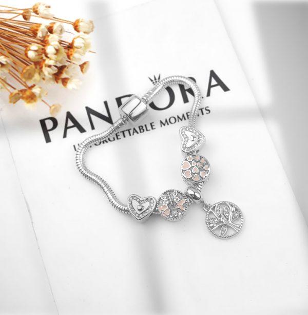 Lắc vòng tay titan phong cách Pandora TA320