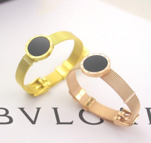 TV116a-Vòng tay titan mặt tròn số la mã thời trang BVL